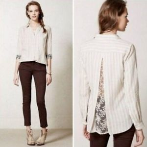Anthropologie Isabella Sinclair Altay Lace Shirt